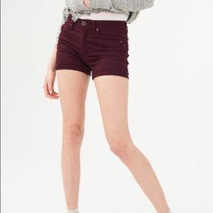 NWT Aeropostale Maroon  High-rise Shorts